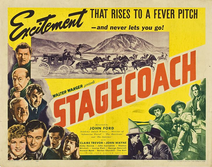 Stagecoach poster with John Wayne