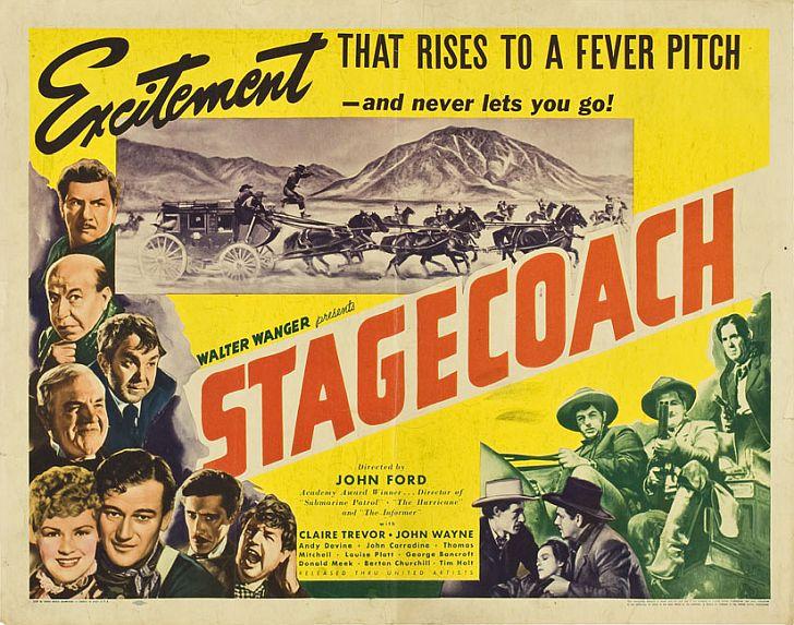 Stagecoach poster with John Wayne