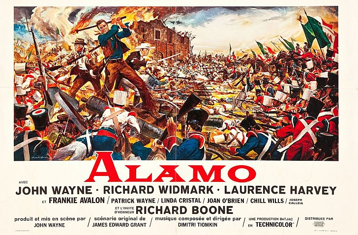 The Alamo poster with John Wayne & Richard Widmark