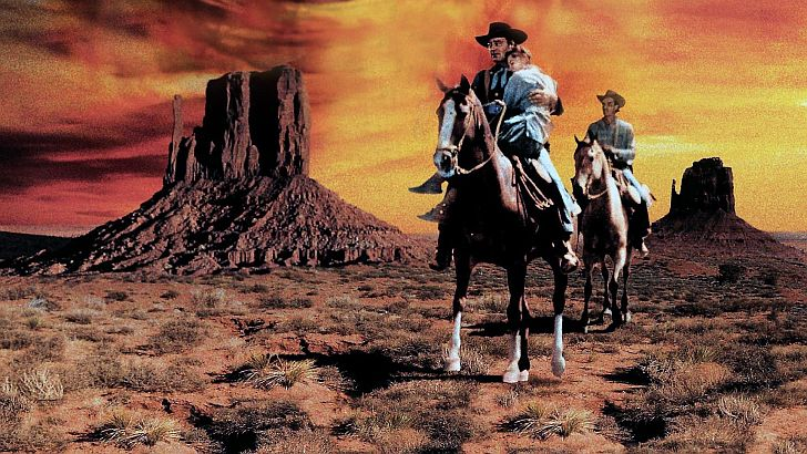 The Searchers still from the movie with John Wayne