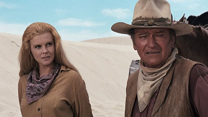 Ann Margret & John Wayne in The Train Robbers