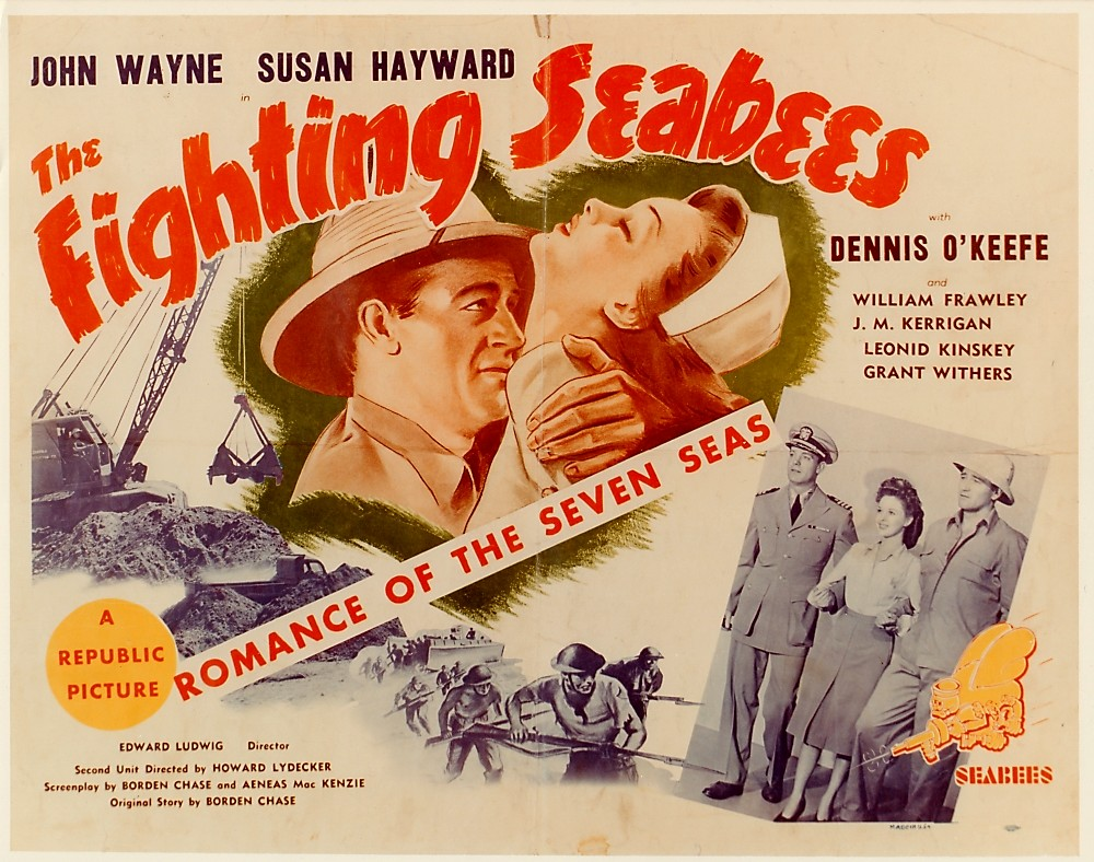 The Fighting Seabees WWII movie with John Wayne