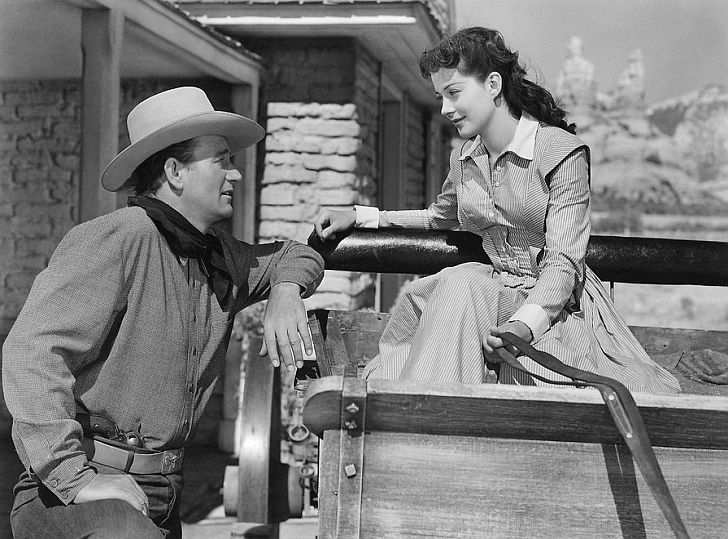 Gail Russell with John Wayne