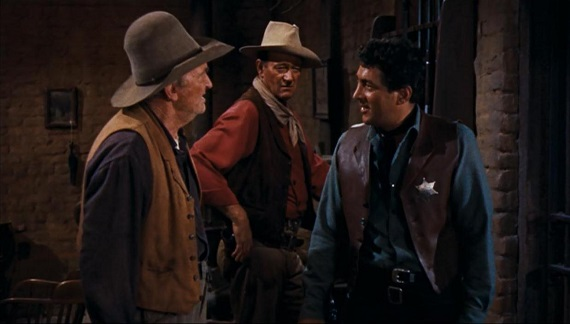 Walter Brennan John Wayne & Dean Martin still from Rio Bravo
