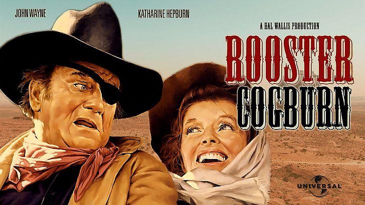 Katharine Hepburn & John Wayne in Rooster Cogburn