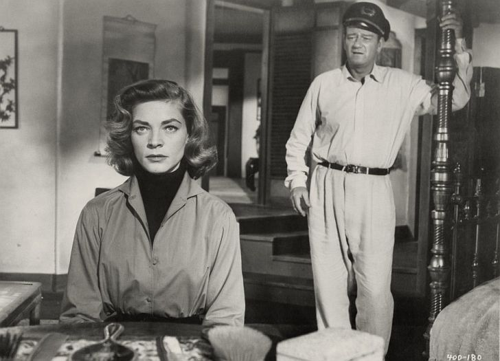 Lauren Bacall & John Wayne in Blood Alley