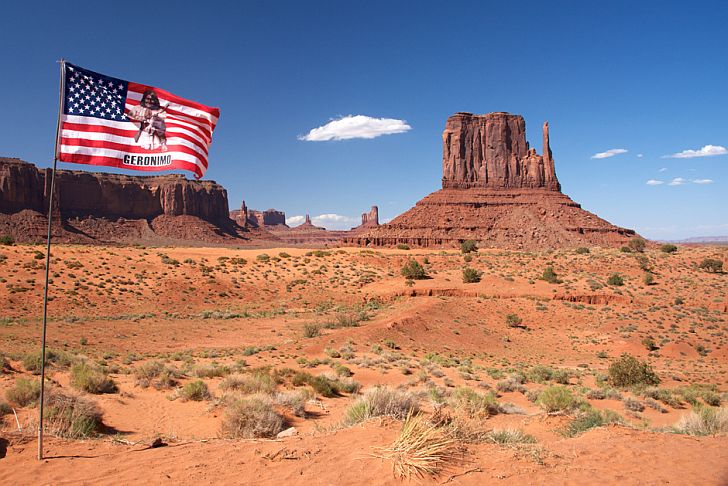 Monument Valley with Geronimo flag