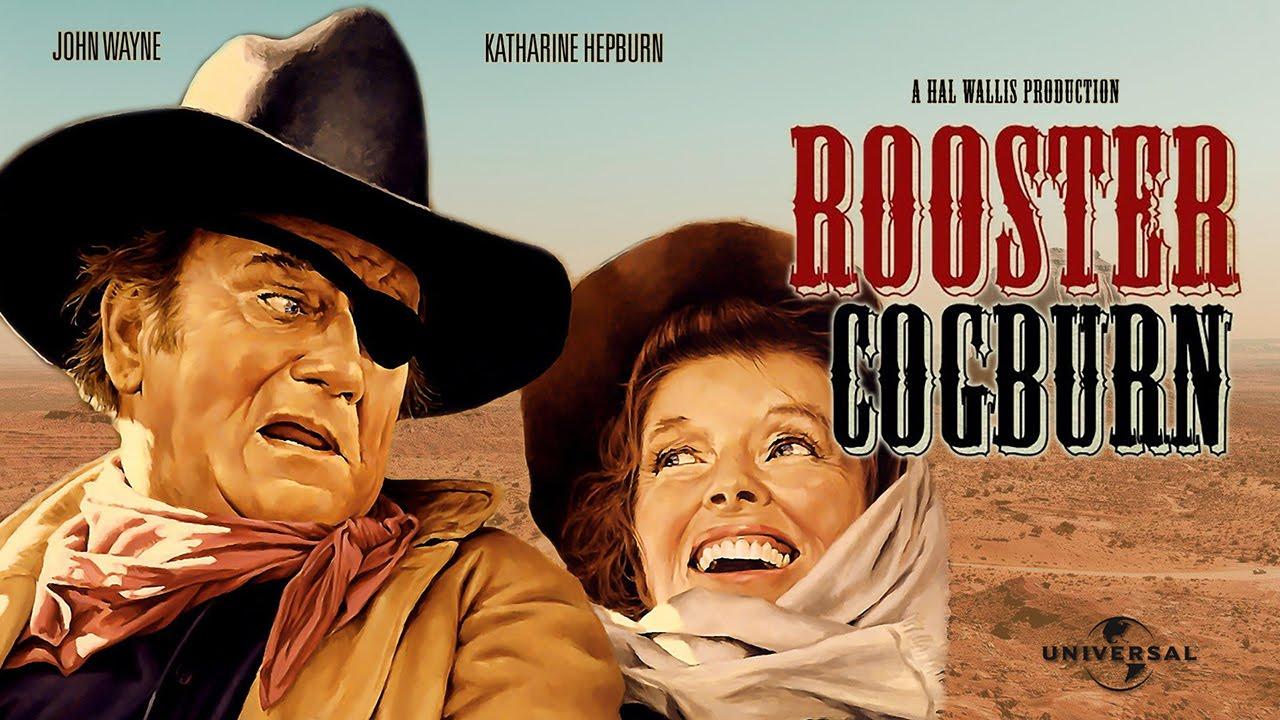 Rooster Cogburn with Duke & Kathrine Hepburn