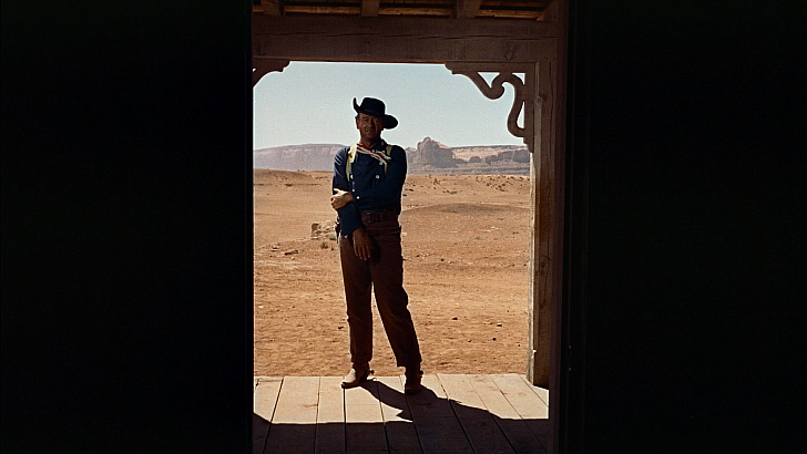 John Wayne in final sequence of The Searchers
