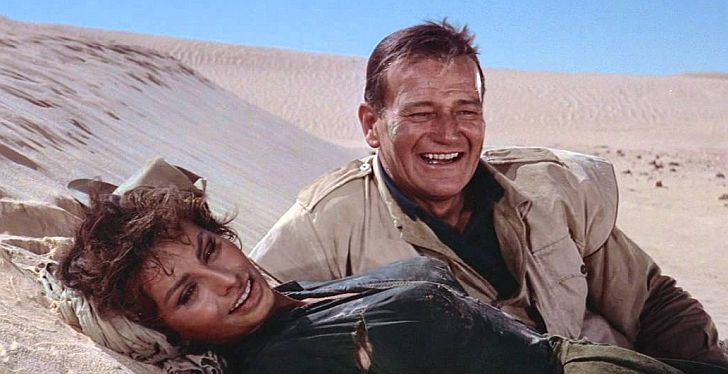 John Wayne & Sophia Loren from Legend of the Lost