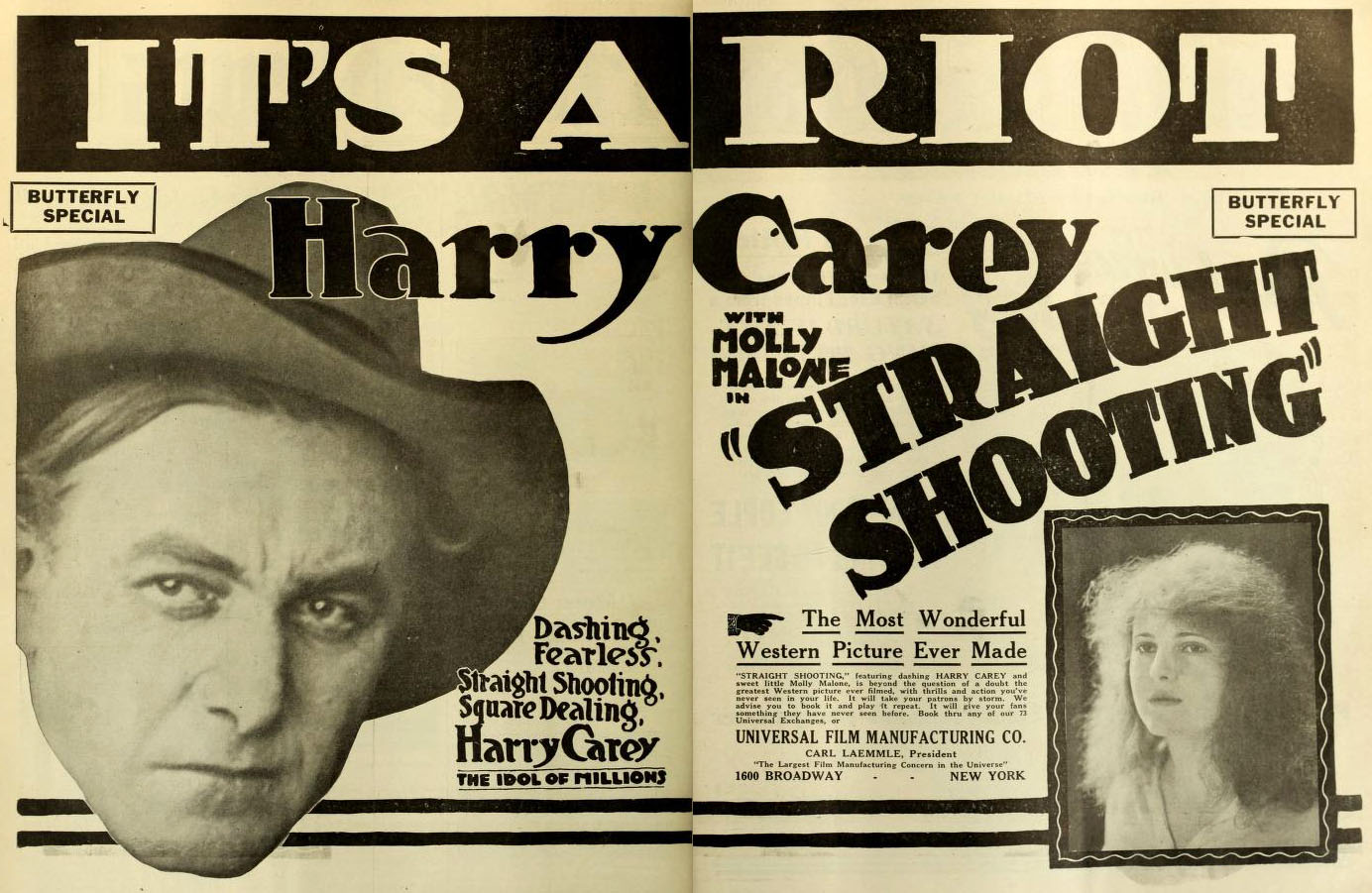Straight Shooting with Harry Carey