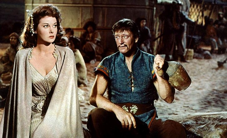 Susan Hayward & John Wayne in The Conqueror