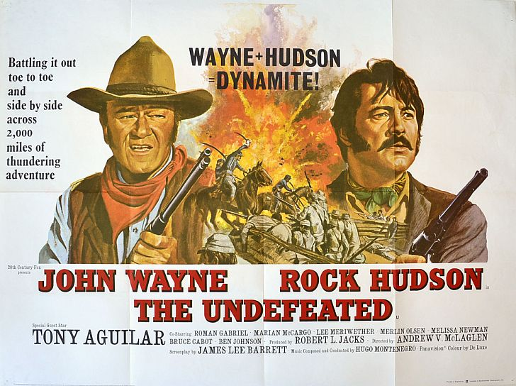 The Undefeated poster with John Wayne & Rock Hudson