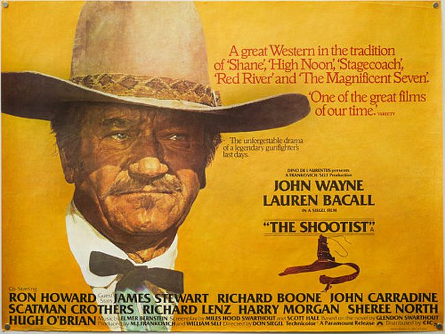 The Shootist poster - Last of the John Wayne Westerns