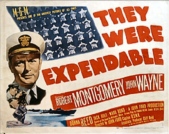 The Were Expendable WWII John Wayne Movie