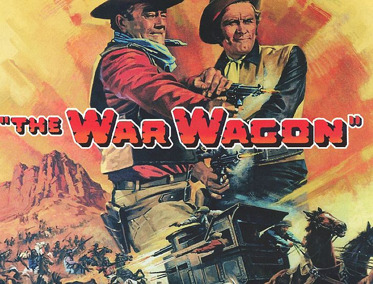 The War Wagon poster with John Wayne & Kirk Douglas