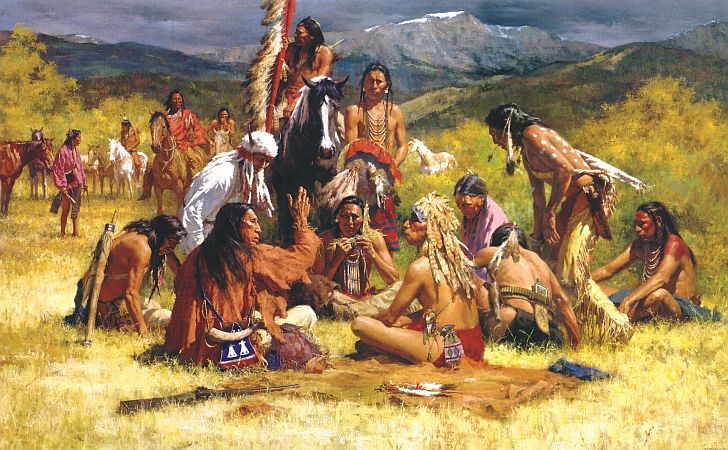 North American Indians painting by C.M. Russell