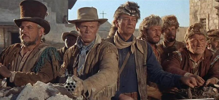 JOhn Wayne in The Alamo as Davy Crocket