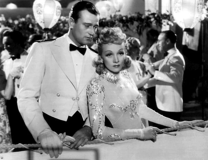 Marlene Dietrich with John Wayne