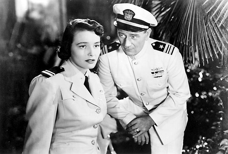 Patricia Neal with John Wayne