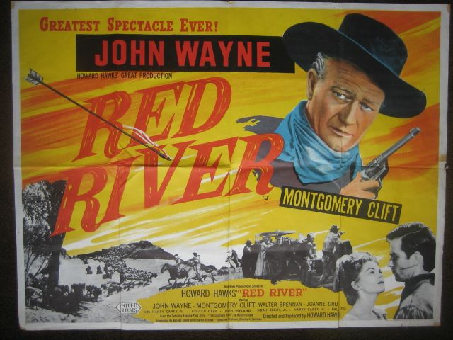 Red River poster with John Wayne
