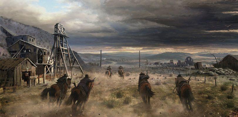 Iconic Wild West Scene