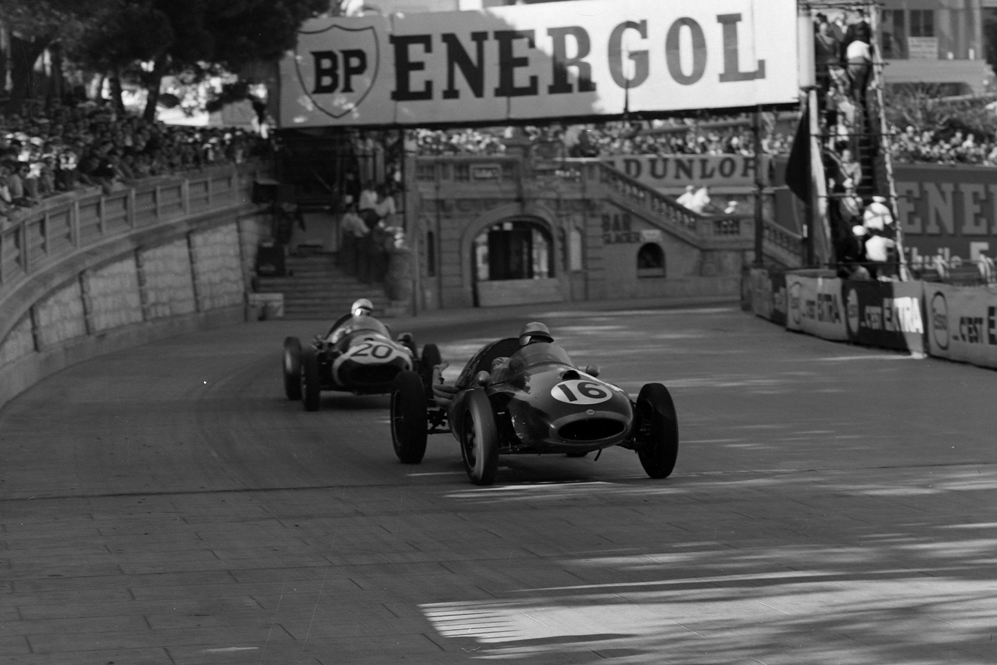 Jack Brabham in his Cooper during the 1958 Monaco Grand Prix