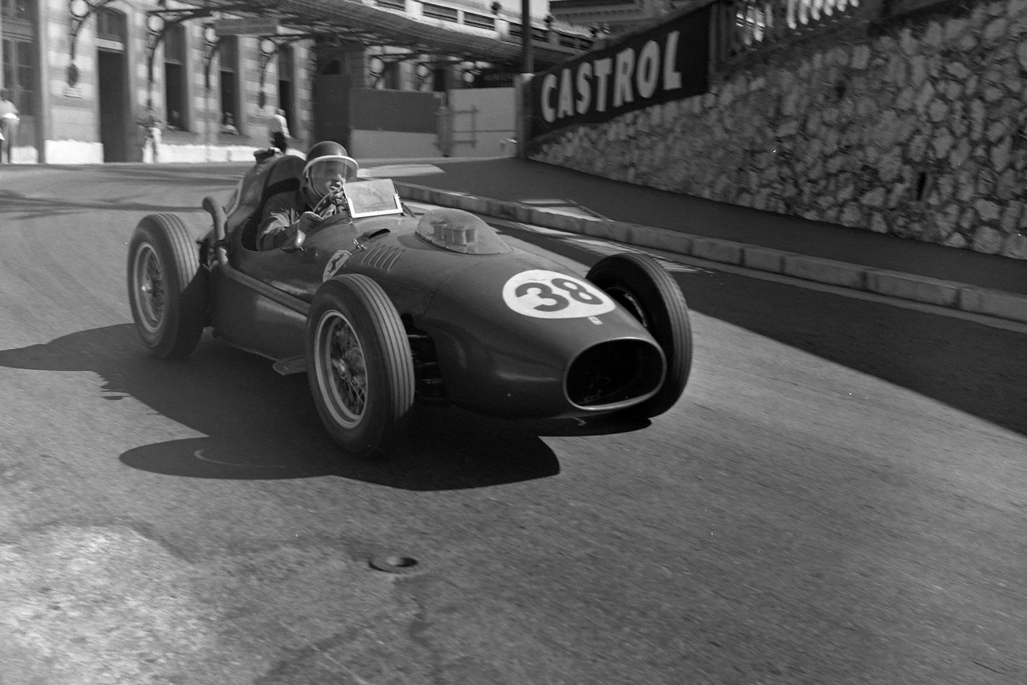 Mike Hawthorn in his Ferrari DIno 246 at the 1958 Monaco Grand Prix