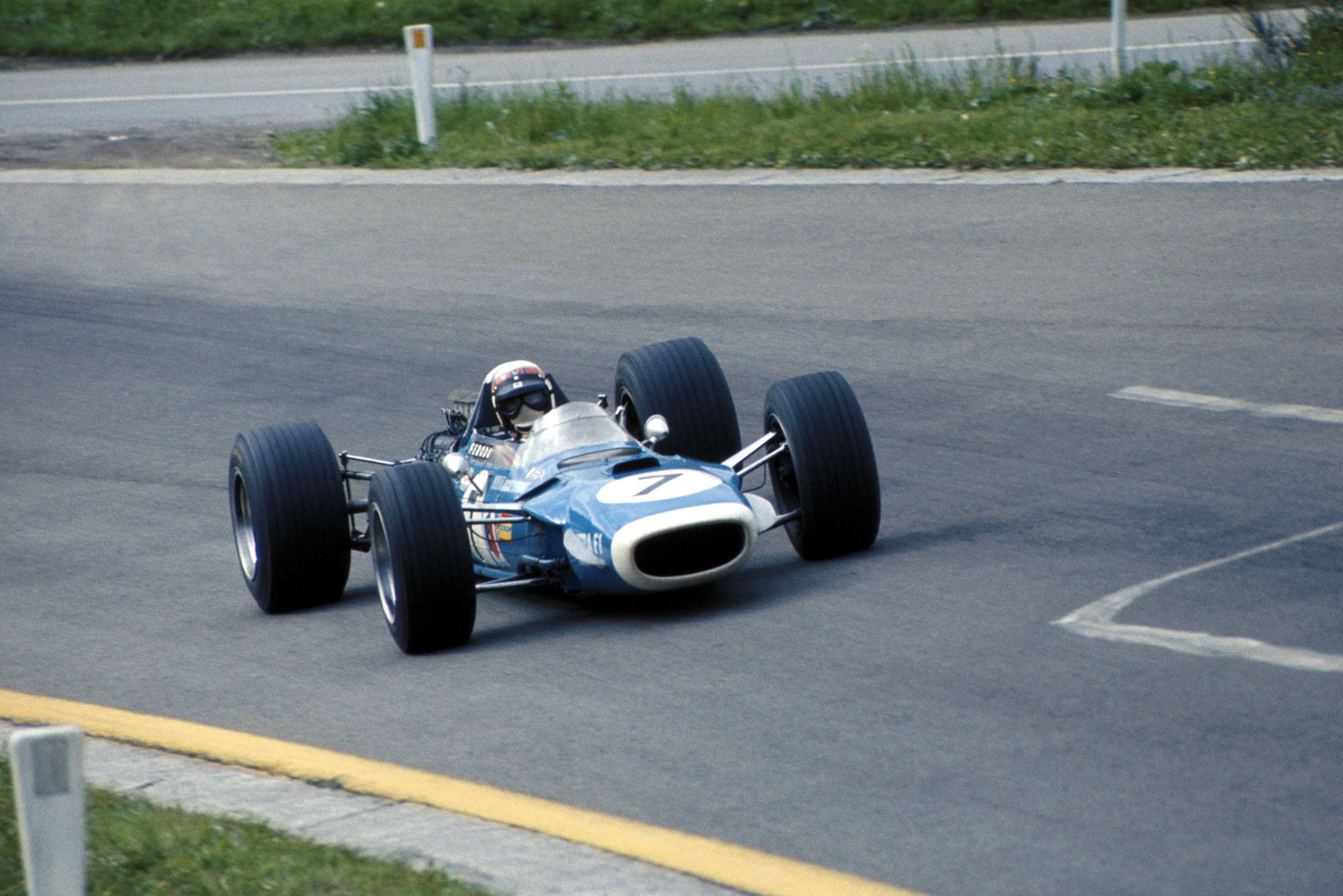 Jackie Stewart (GBR) Matra Cosworth MS10, finished the race in fourth place. Formula One World Championship, Rd4, Belgian Grand Prix, Spa-Francorchamps, Belgium, 9 June 1968.