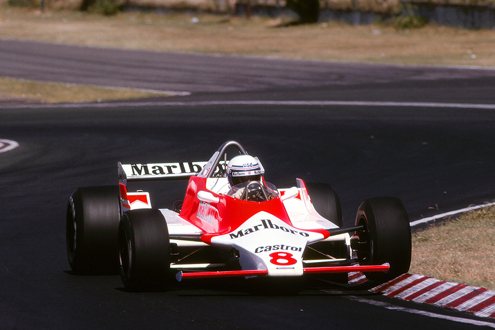 Alain Prost finished 6th in his McLaren M29.