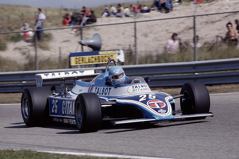 Patrick Tambay in his Ligier JS17 Matra.