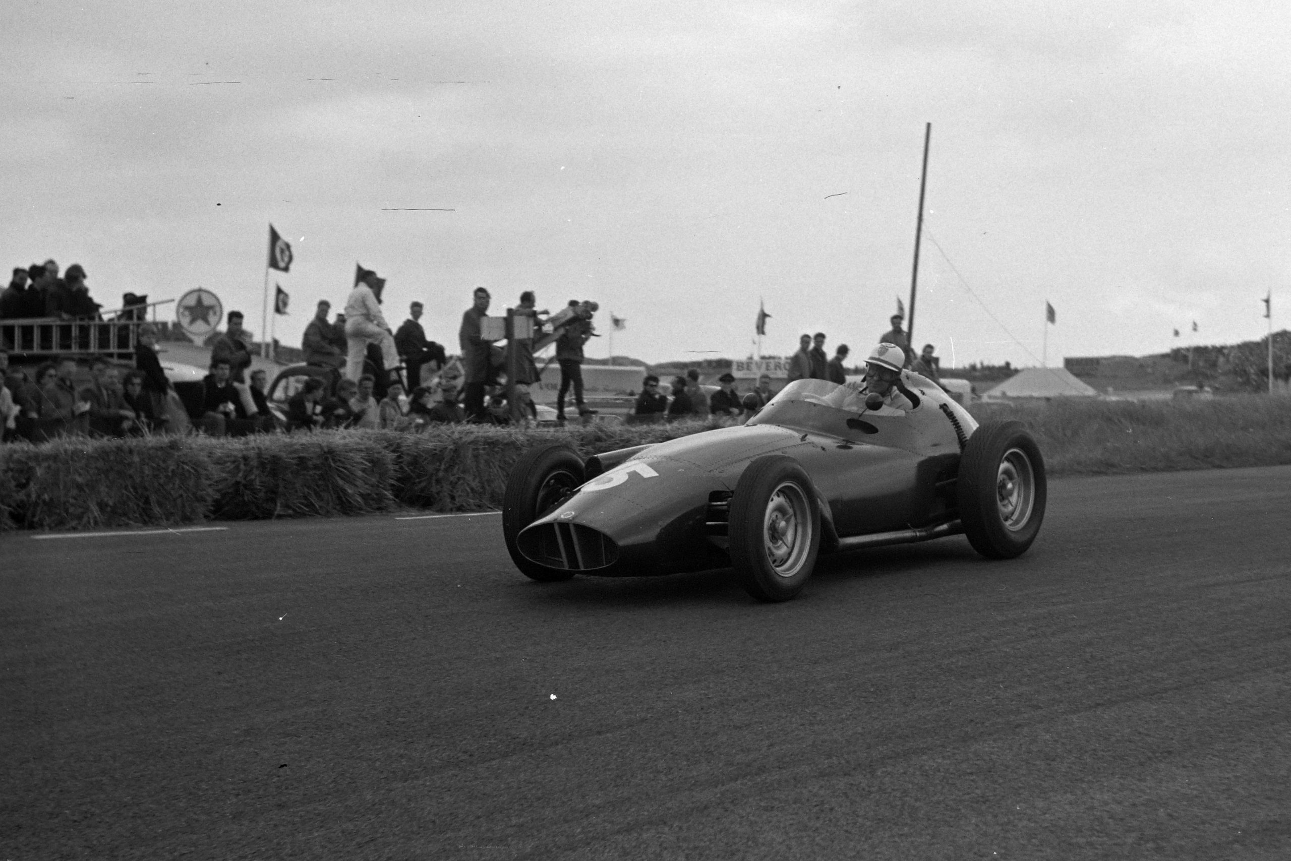 Harry Schell driving his BRM P25.