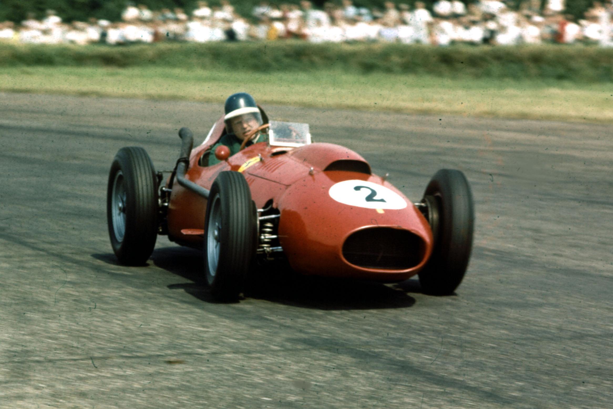 Mike Hawthorn in a Ferrari Dino 246