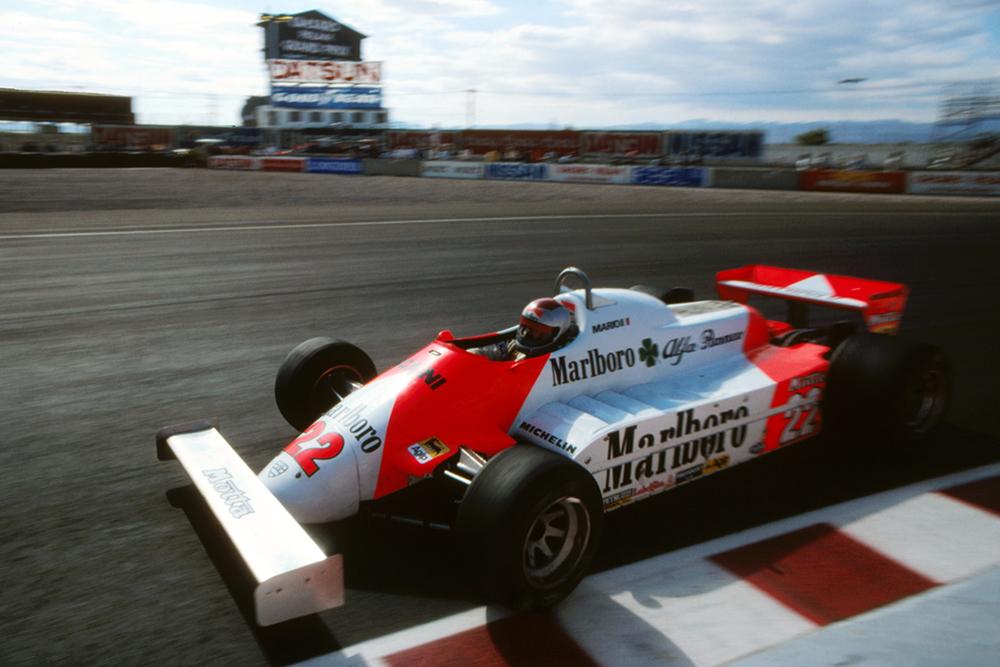 Mario Andretti, Alfa Romeo 179C, retired with rear suspension failure.