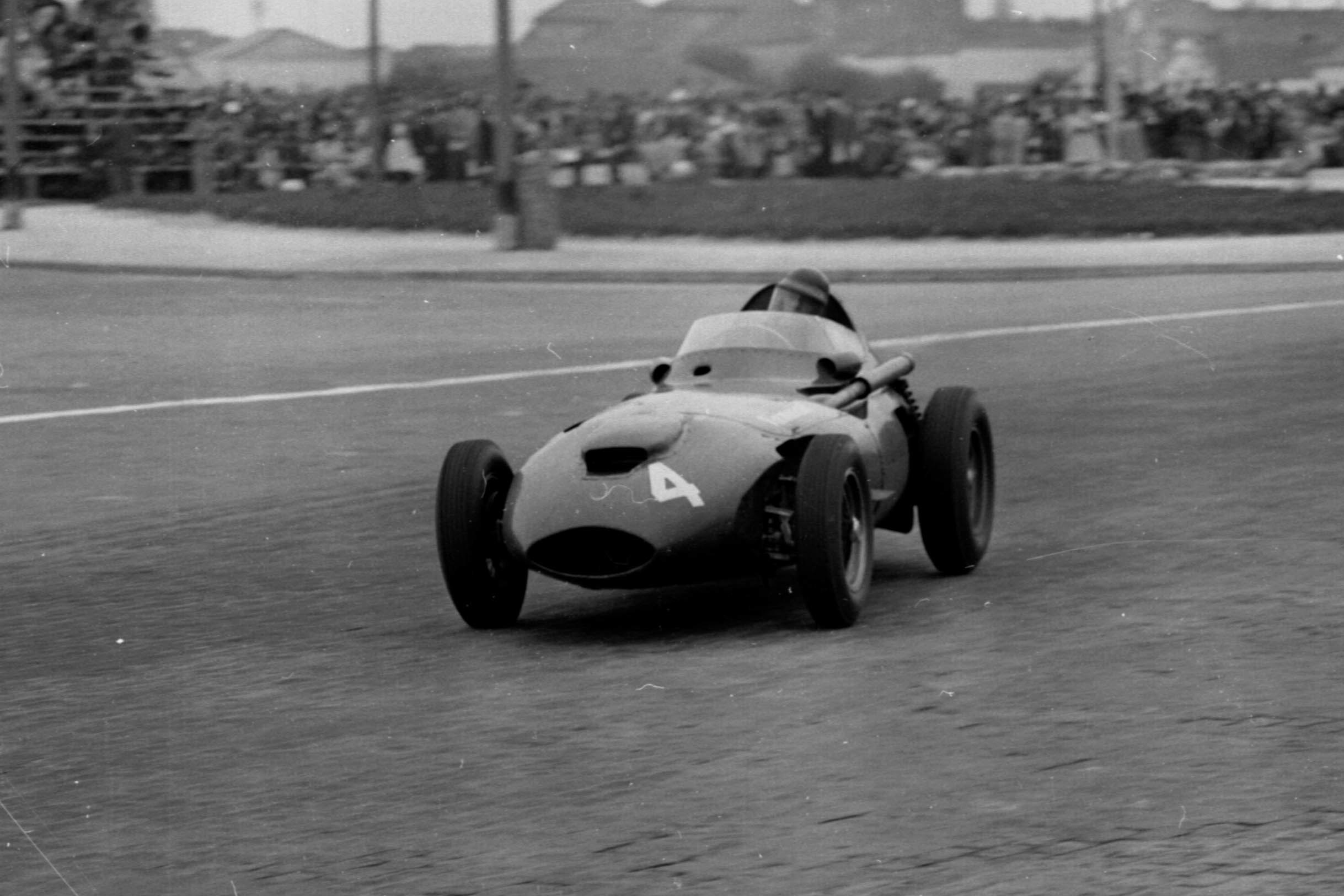 Tony Brooks driving his Vanwall.