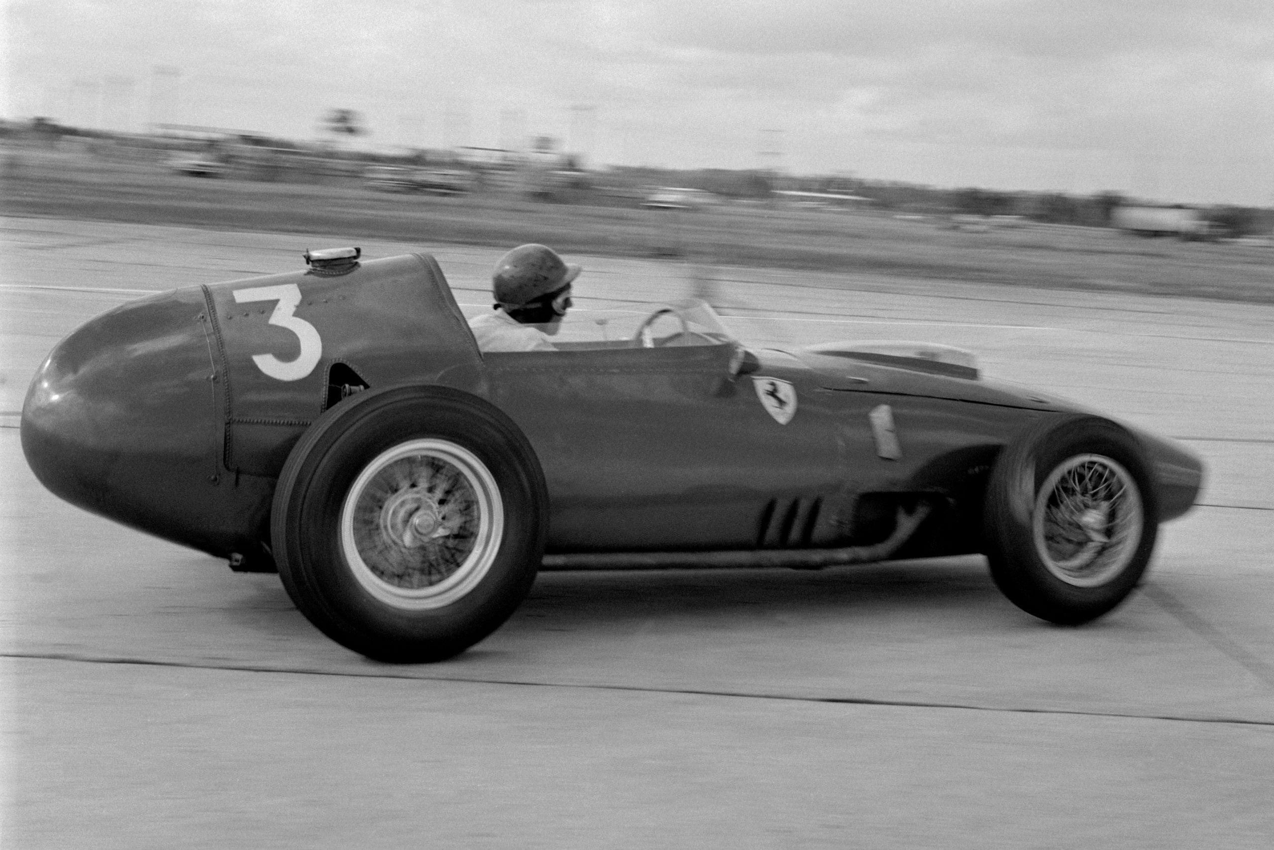 Cliff Allison in his Ferrari Dino 246, who later retired.