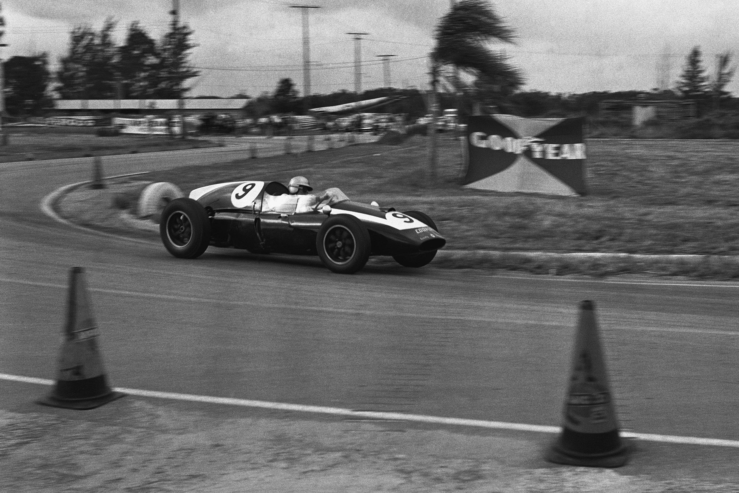 Bruce McLaren in his Cooper T45-Climax.
