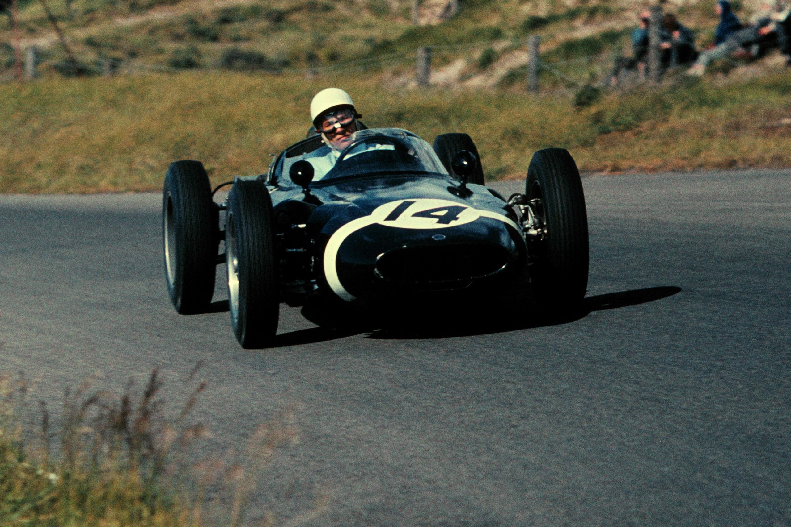 Stirling Moss in his Lotus 18.