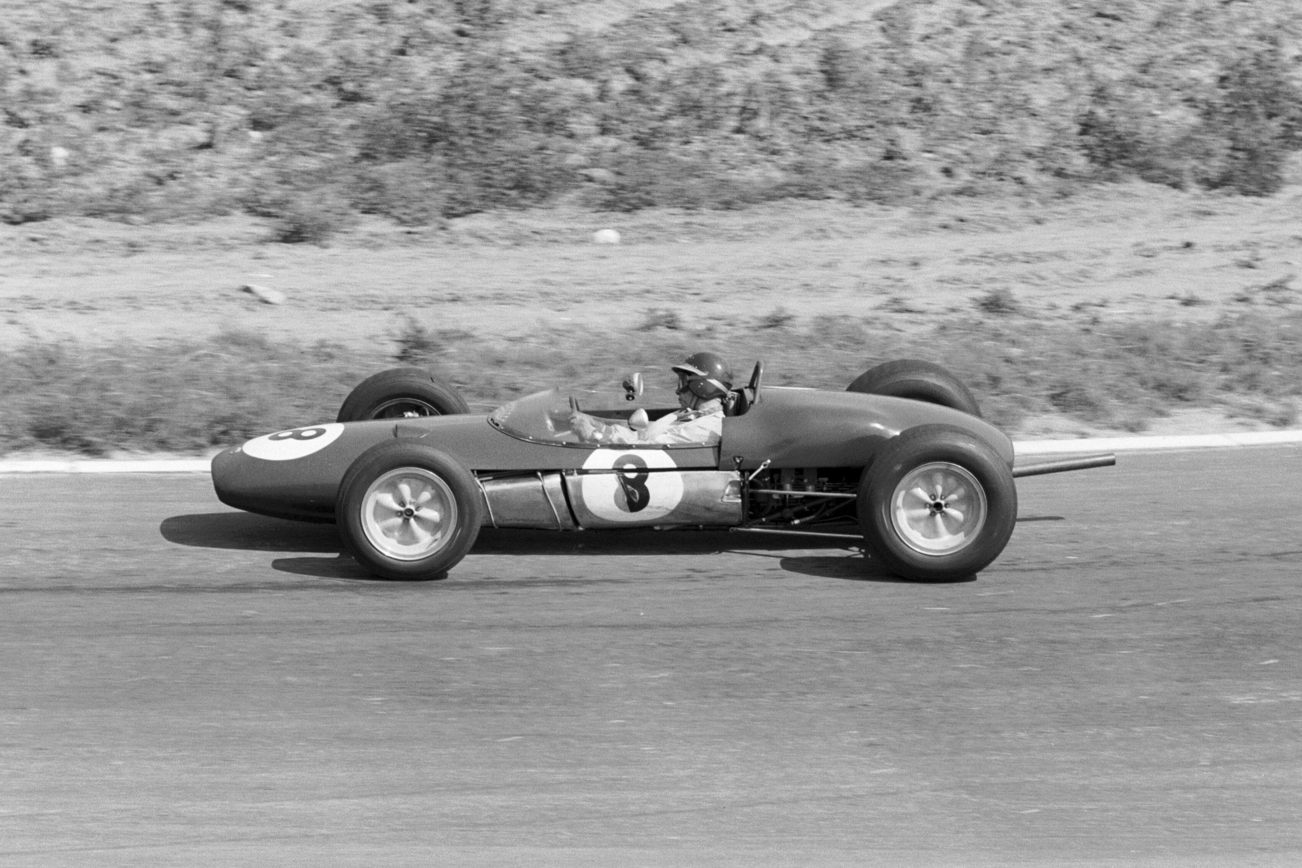 Jim Clark at the wheel of a Lotus 21.