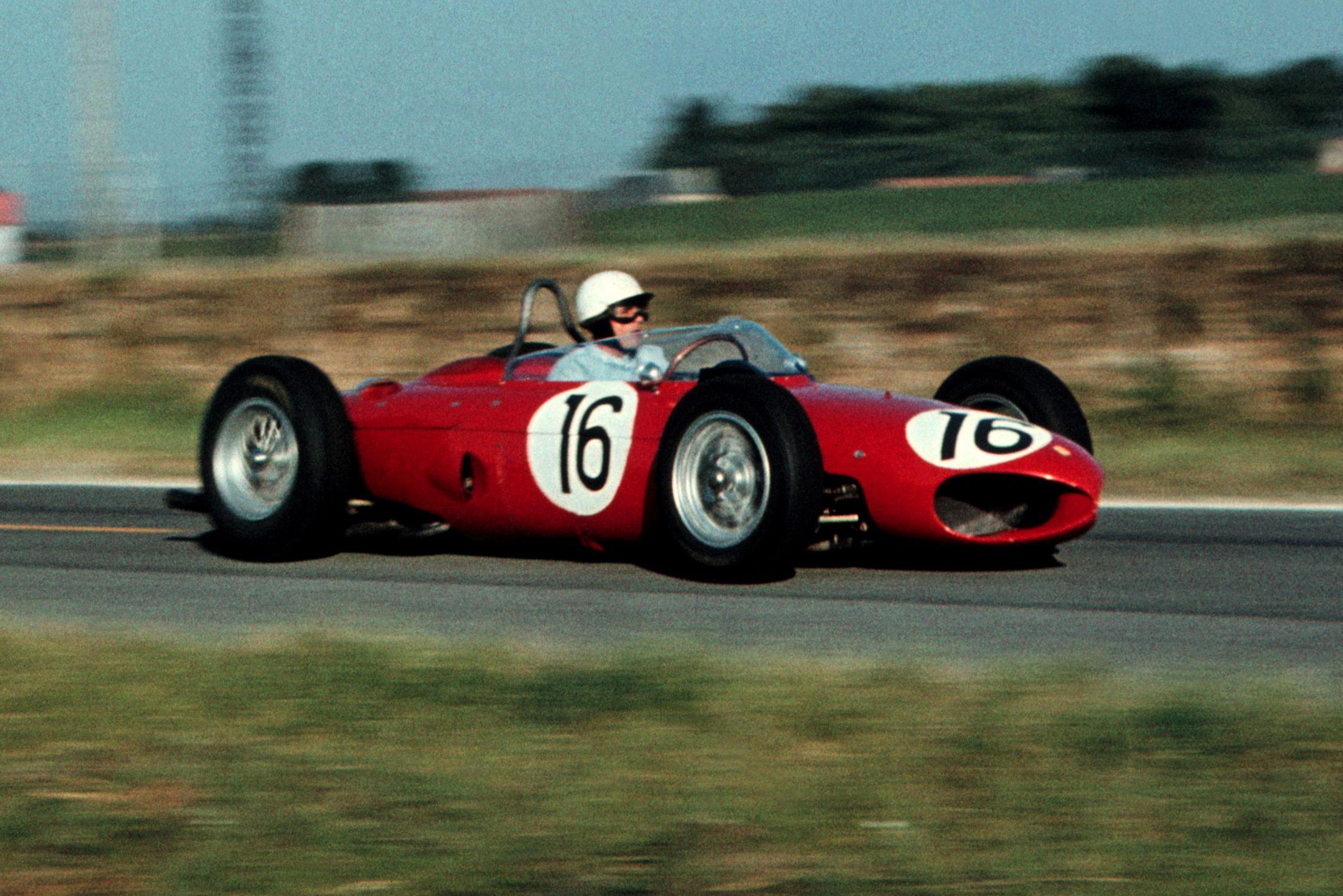 Phil Hill in his Ferrari 156.