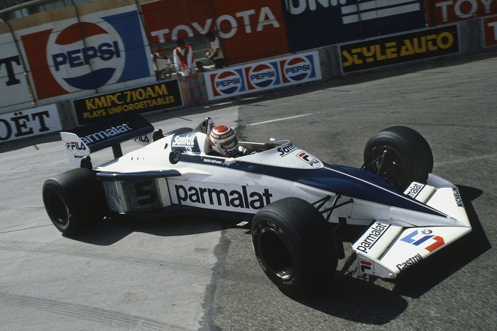Nelson Piquet in his Brabham BT52 BMW.