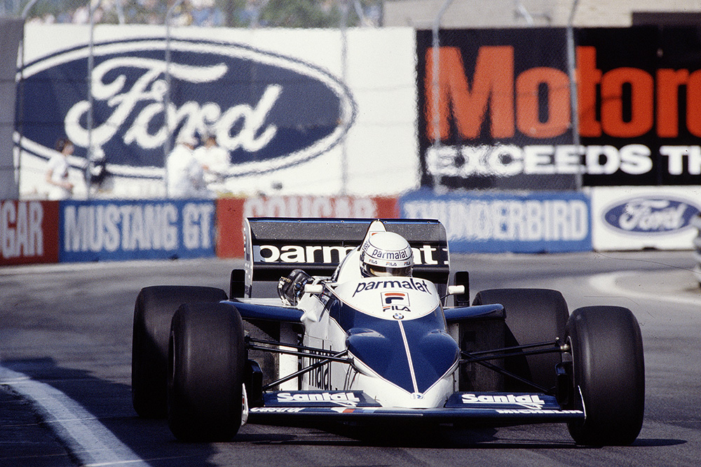 Riccardo Patrese in his Brabham BT52 BMW.
