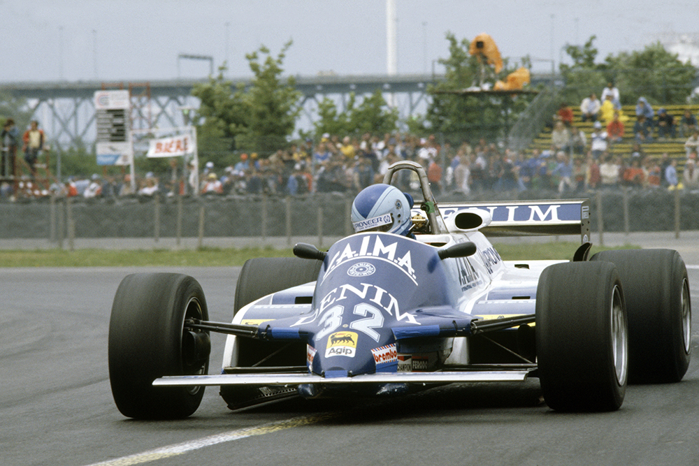 Riccardo Paletti (Osella FA1C-Ford Cosworth) in practice. He was killed in a startline accident in the race.