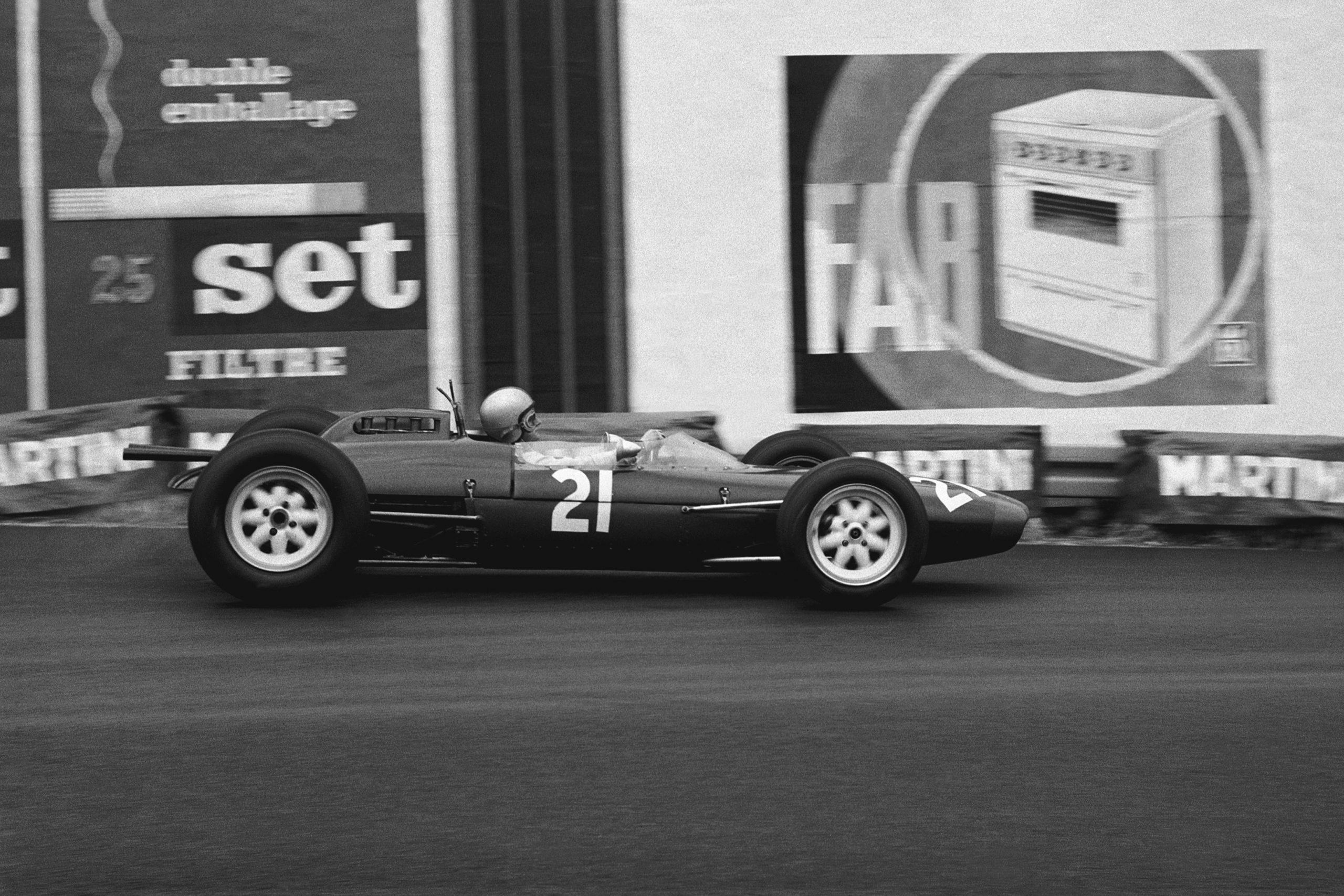 Chris Amon in his Lola Mk4A Climax.