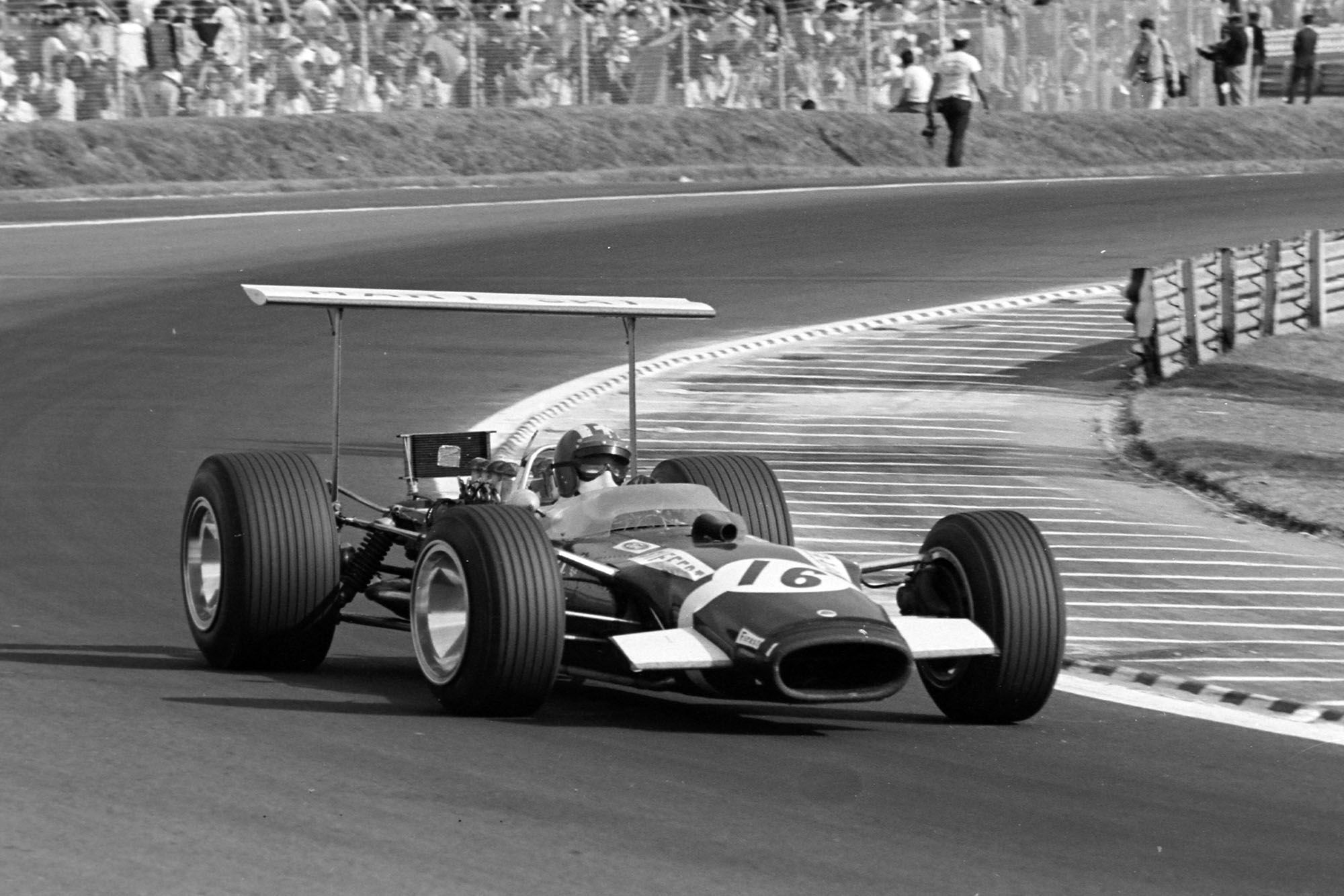 Jochen Rindt in his Rob Walker Lotus at the 1968 Mexican Grand Prix