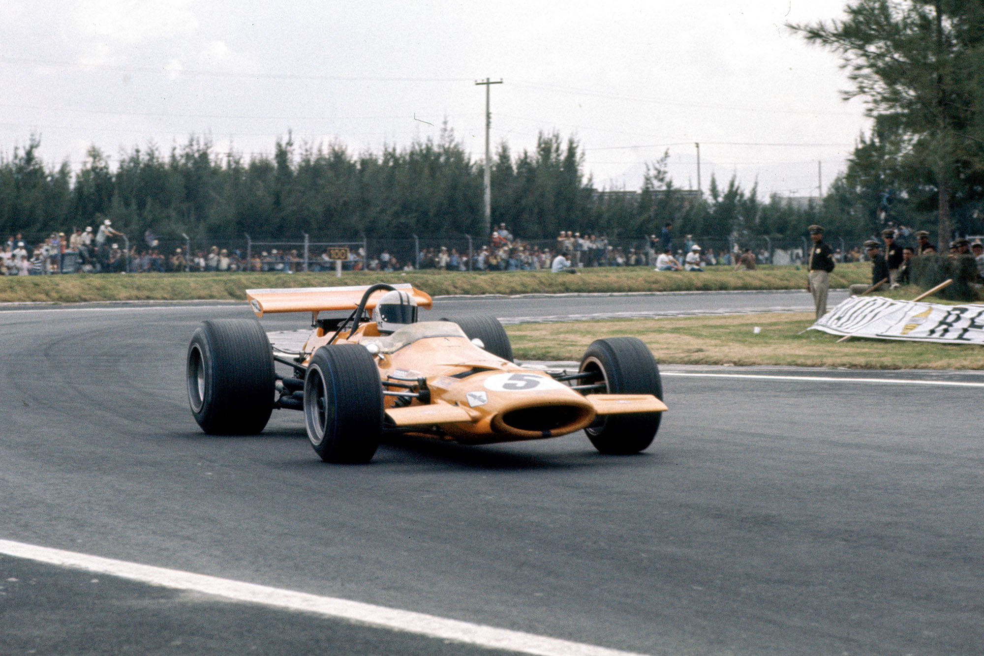 Denny Hulme in his McLaren at the 1969 Mexican Grand Prix