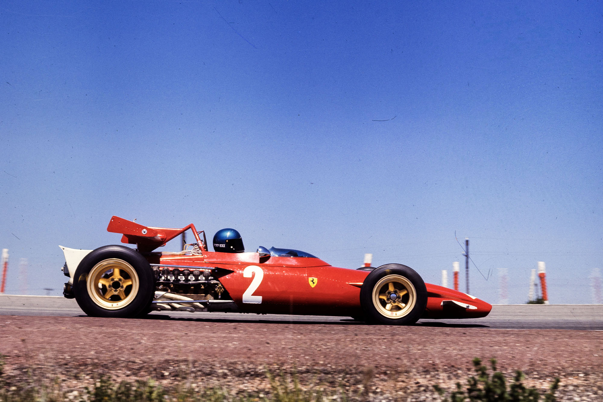 Jacky Ickx in his Ferrari at the 1970 Spanish Grand Prix