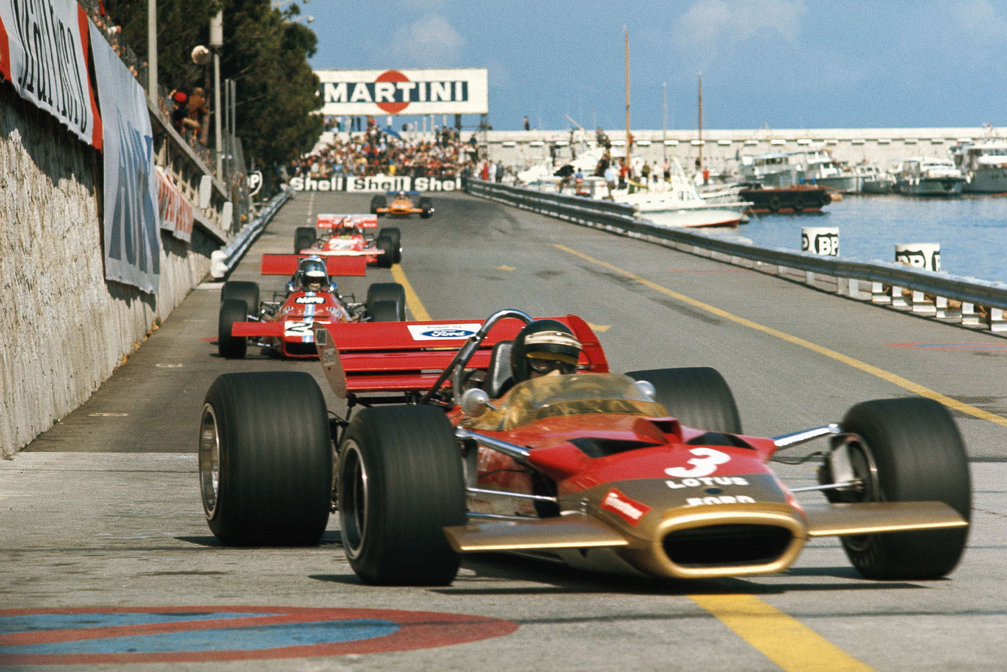 Jochen Rindt leads the pack