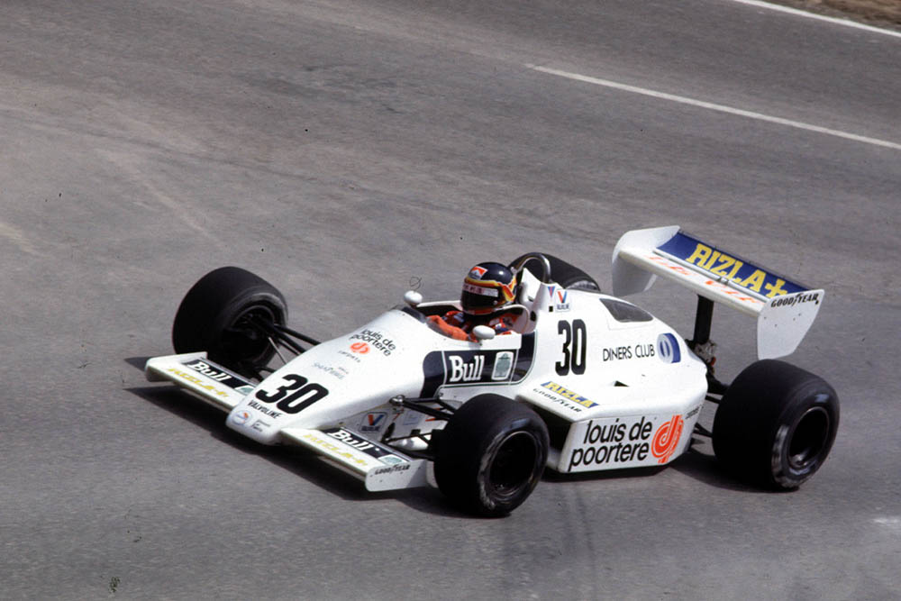 Arrows driver Thierry Boutsen.