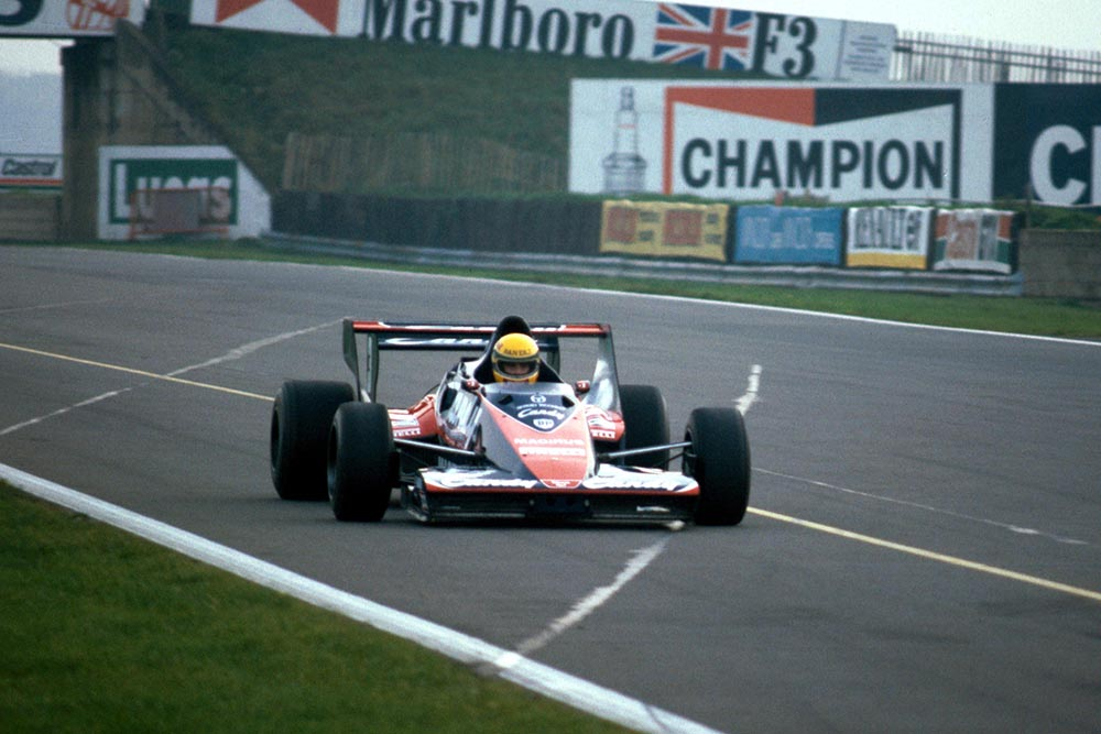 Ayrton Senna tests the Toleman TG183B for the first time. He would go on to make his Grand Prix debut with the team in the following season.